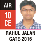 Peeyush Kr. Shrivastav, GATE 2016, RANK 10